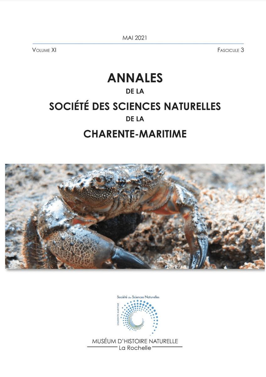 Annales de la Société des Sciences Naturelles de la Charente-Maritime - Mai 2021